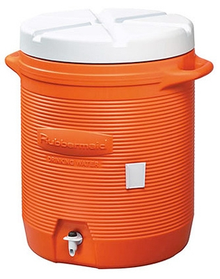 10-Gallon Orange Water Cooler