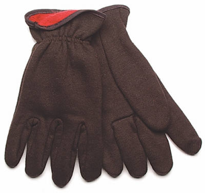 Poly/Cotton Jersey Gloves, Lined, L