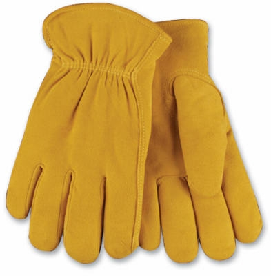 Men's Full-Suede Deerskin Leather Gloves, Medium