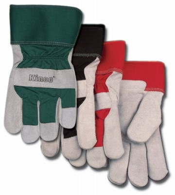 Medium Men's Lined Suede Cowhide Leather Palm Gloves