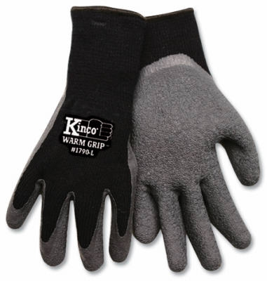 Medium Men's Cold-Weather Latex-Coated Knit Gloves