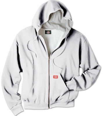 Thermal Fleece Jacket, Hooded, Gray, Men's L
