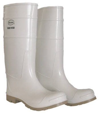 16-Inch Waterproof White Boot, Size 10