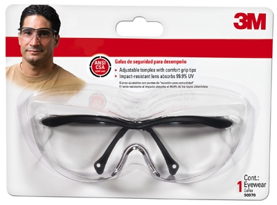 Performance Safety Eye Protection, Black Frame/Clear Lens
