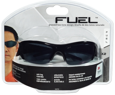 Fuel X2 High Performance Safety Eyewear, Black Frame/Gray Lens