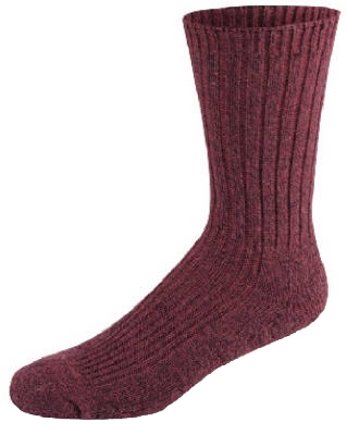 Socks, Crew, Merino Wool & Silk, Rose, Women's Medium