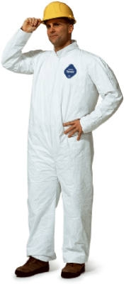 Zip-Front Coverall, White, 25-Pk., Large