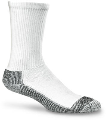 Work Socks, Double Cushioned, White & Black, Men's XL