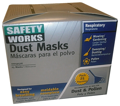 25-Pack Non-Toxic Dust Masks