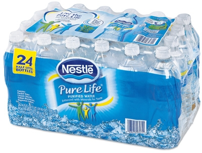 Pure Life Drinking Water, .5 Liter Bottle, 24-Pack
