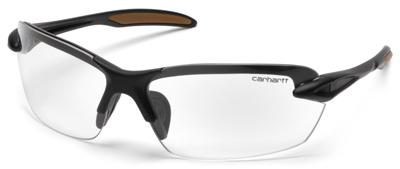 Spokane Safety Glasses, Clear Lens/Black Frame
