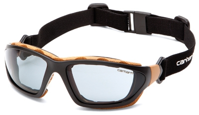 Carthage Safety Glasses, Gray Lens/Black & Tan Frame