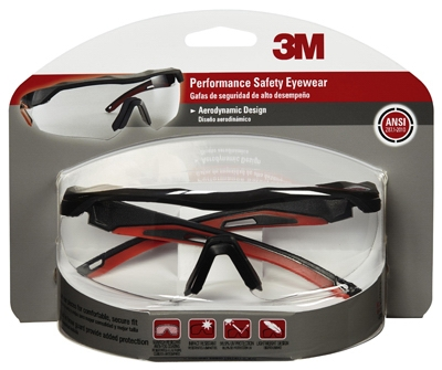 Safety Glasses, Black/Red