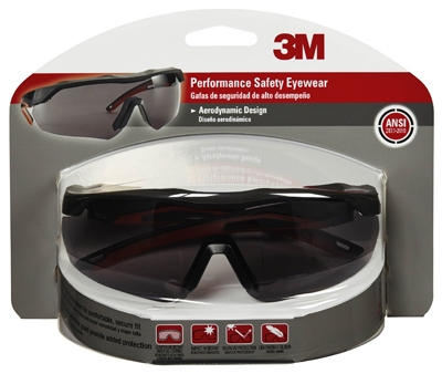 Performance Safety Glasses, Black/Red