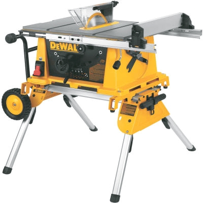 Compact Job Site Table Saw With Rolling Stand, 10-In.