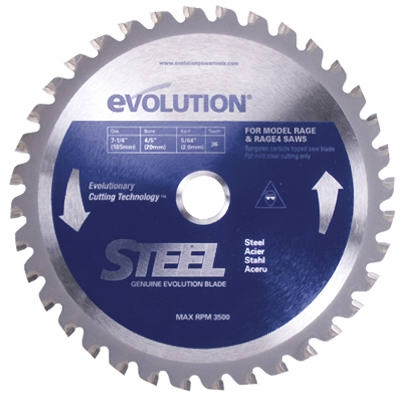 Tungsten Carbide-Tipped Steel-Cutting Blade, 7.25-In., 40-TPI
