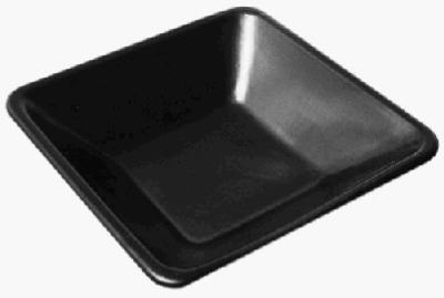 Mortar Pan, Black Polyethylene, 29 x 29 x 6-In.