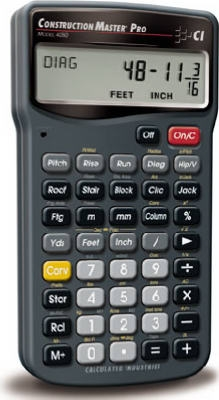 Master Pro Construction Calculator, With Case & Batteries