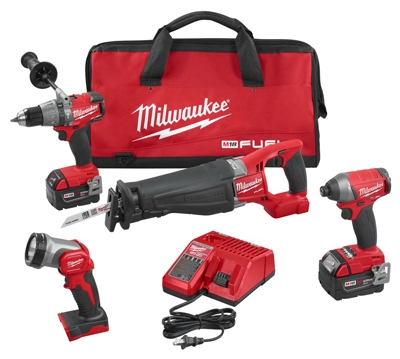 M18 Fuel 4-Tool Combo Kit, Lithium-Ion