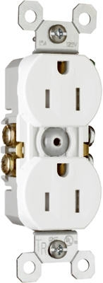 15A White Tamper-Resistant Receptacle