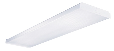 Fluorescent  Wrap Light Fixture, 4-Lamp, 4-Ft.