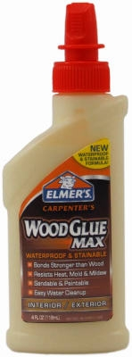Wood Glue, Stainable/Waterproof, 8-oz.