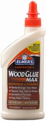 Wood Glue, Stainable, 8-oz.