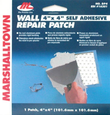Drywall Patch Kit, 4 x 4-In.