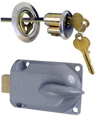 Metal Cylinder Garage Door Deadbolt