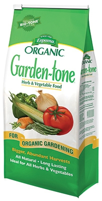 Garden-Tone All-Natural Vegetable Food, 3-4-4, 18-Lb.