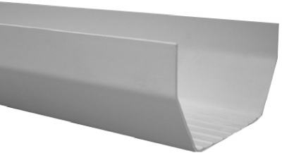Gutter, White Vinyl, 10-Ft., Must Purchase in Quant. of 10