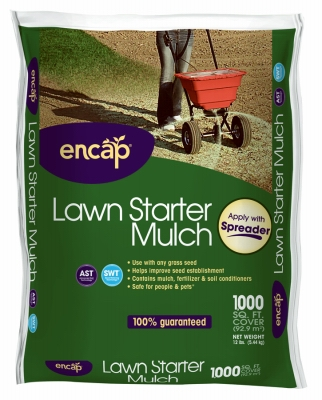 1000-Sq. Ft. 12-Lb. Lawn Starter Mulch - Must Order in Quantities of 4