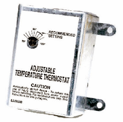 Single-Speed Thermostat for Attic Fans
