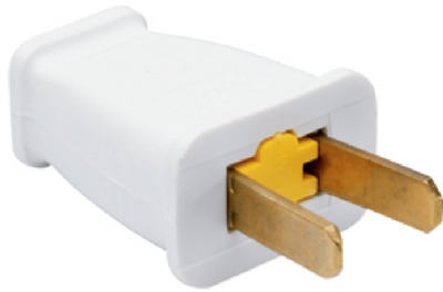 15A White Residential Non-Polarized Plug