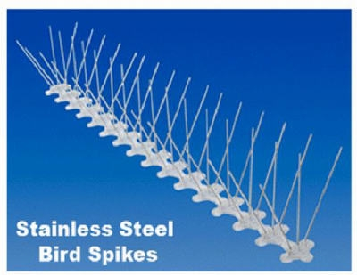Bird Spike, Stainless Steel/Plastic, 5-In. x 20-Ft.