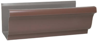 K-Style Gutter, Brown Galvanized Steel, 4-In. x 10-Ft. Must Be Purchased In Quant. of 10