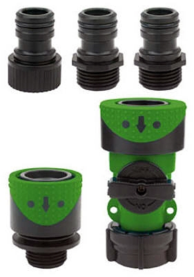 Full-Flow Quick-Connector Hose End/Faucet Set