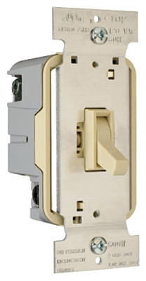 600-Watt Ivory 3-Way Toggle Dimmer