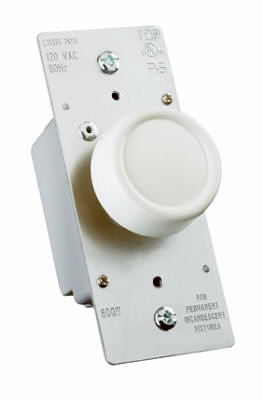 600-Watt Ivory Maximum Single Pole Rotary Power Dimmer
