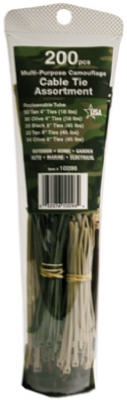 200-Pk. 4 & 8-In. Black Cable Tie Tube