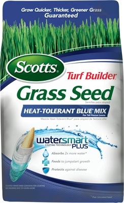 Turf Builder Heat-Tolerant Blue Grass Seed Mix, 3-Lbs., Covers 750 Sq. Ft.