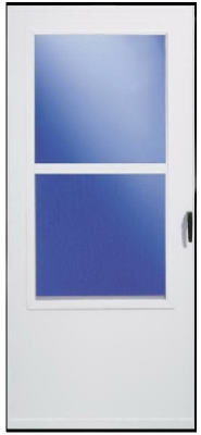 Storm Door, White Vinyl, Solid Wood Core, 30 x 81-In.