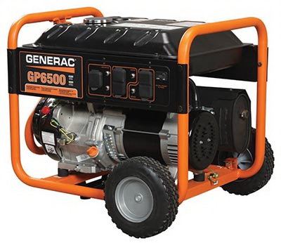 GP Series Portable Electric Generator With Wheel Kit, 6500/8000-Watt