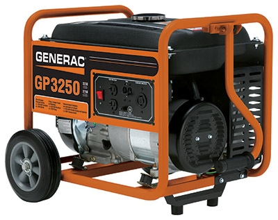 GP Series Portable Electric Generator With Wheel Kit, 3250/3750-Watt
