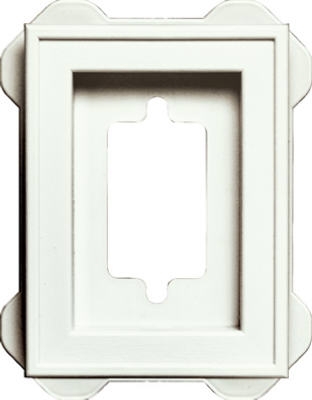 Recessed Mini Mounting Block, White