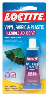 Vinyl, Fabric & Plastic Repair Adhesive, 1-oz.