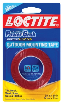 Power Grab Mounting Tape, .75 x 60-In. Roll