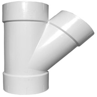 Plastic Pipe Fitting, DWV  Wye, PVC, 2-In.