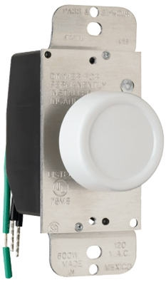 600-Watt White Single Pole Rotary Dimmer
