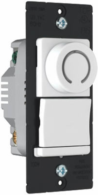 3-Way Rotary Dimmer Switch with Pilot Light, White